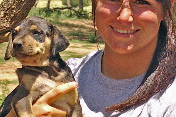 Cheynne Brown & pup