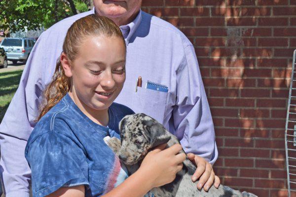 Covis girl grandpa & BXB pup