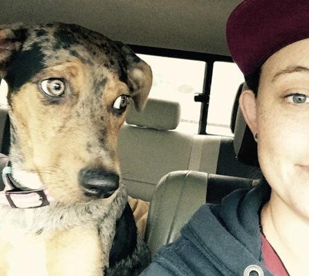 Kayla & Cas close in truck(1)