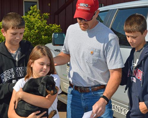 Paul Harris & family CXA pup