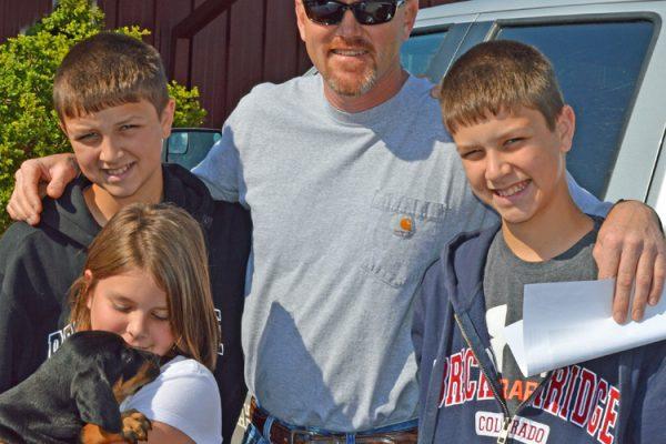 cxa Paul Harris 3 kids pup